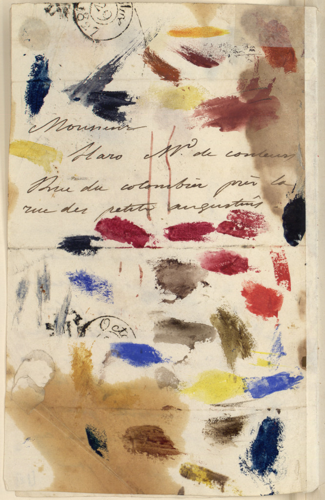 Eugene Delacroix to his paint dealer, 1827s